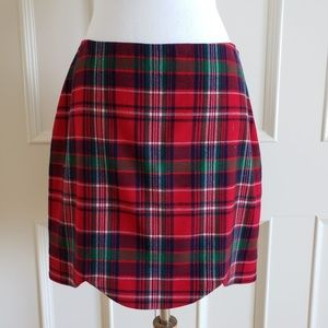 Vineyard Vines Holiday Plaid Scalloped Skirt